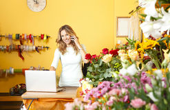 Stående för blomsterhandelägare Fotografering för Bildbyråer