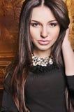 Stående för glamourmodekvinna royaltyfria foton