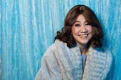 stående för kvinna för gammalt mode för 50-tal60-talår asiatisk arkivbilder
