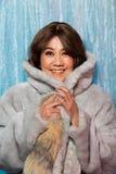 stående för kvinna för gammalt mode för 50-tal60-talår asiatisk royaltyfri foto