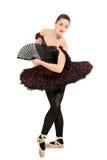 stående för längd för ballerinadansare full Arkivbilder