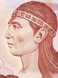 Stående för LempiraLenca linjal royaltyfri bild
