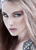Stående för modeskönhetflicka royaltyfria bilder