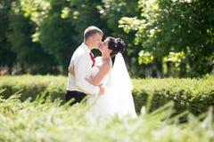 Stående för nygift personsidosikt royaltyfria foton