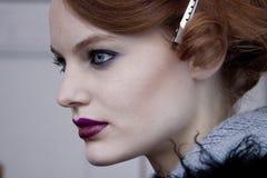 Stående för skönhet för modemodell i New York Arkivfoton