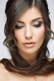 Stående för skönhetstilkvinnlig fotografering för bildbyråer