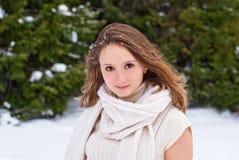 Stående för ung kvinna. Fotografering för Bildbyråer