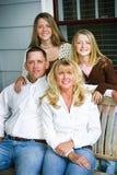 Stående - härlig familj arkivbilder