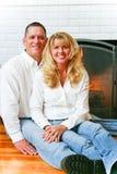 Stående - härligt gift par royaltyfri fotografi