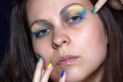 Stående med färger av Brasilien Royaltyfri Fotografi