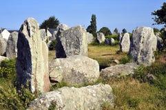 Stående stenar på Erdeven i Frankrike royaltyfri foto