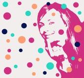 stående stylized kvinna vektor illustrationer