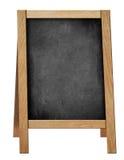 Stående välkommen svart tavla eller svart tavla Arkivbilder