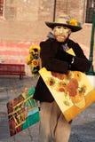 stående venice för karnevalitaly maskering Arkivbilder