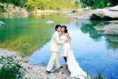 ståendebröllop Royaltyfri Foto