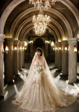 ståendebröllopkvinna Arkivbilder