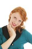 Ståendeflicka med rött hår Royaltyfri Fotografi