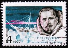 ståendeG Y Sedov polar utforskare, circa 1977 Royaltyfria Bilder