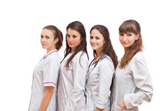 Ståendegrupp av sjuksköterskor Arkivbilder