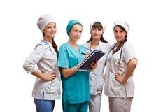 Ståendegrupp av sjuksköterskor Royaltyfri Foto
