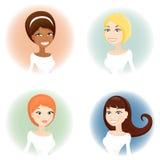 ståendekvinna royaltyfri illustrationer