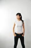 ståendekvinna arkivbilder