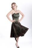 ståendekvinnabarn Fotografering för Bildbyråer