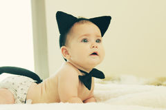 Ståenden av aborable behandla som ett barn Fotografering för Bildbyråer