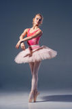 Ståenden av ballerina i balett poserar Royaltyfri Bild