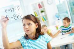 Schoolwork Royaltyfria Foton