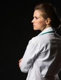 Ståenden av den säkra läkarundersökningen manipulerar kvinnan Arkivfoton