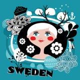 Ståenden av den svenska flickan Royaltyfri Fotografi