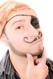 Ståenden av en manlig piratkopierar, räcker målat Arkivfoton