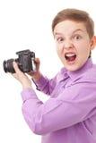 Tonåringpojke royaltyfria bilder