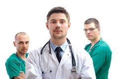 Gruppen av läkarundersökning manipulerar Royaltyfri Bild