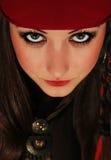 Ståenden av flickan piratkopierar Arkivfoton