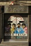 Ståendena för Beatles popkonst Arkivfoton
