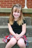 ståendeschoolgirl Royaltyfri Fotografi