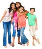 ståendestanding för fyra vänner Royaltyfria Foton