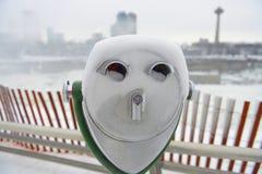 Stål- blick i vinter Fotografering för Bildbyråer