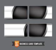 Stål c för metall för teknologi för uppsättning 009 för mall för affärskort högvärdigt Arkivbilder