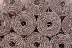 stål för golvmetallrulle Arkivfoto