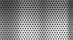stål för metall för bakgrund raster spela golfboll i hål perforerat Royaltyfri Bild