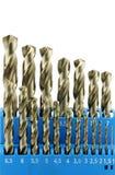 stål för metall för bitar drill hårdnat set Royaltyfri Fotografi