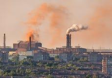 Stål maler, metallurgiväxten Fabrik för tung bransch Arkivbild