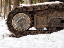 Stål och snö Arkivbilder