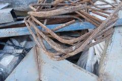 Stål på konstruktionsplatsen arkivbilder