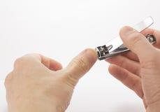 Stål spikar nagelsax Arkivfoton