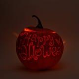 Stålar-o'-lyktor halloween pumpa Arkivfoto