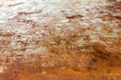 Stålarket av järn korroderade vid rost (bakgrund) gammalt mycket Str Arkivbilder